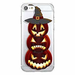 Для iphone 7plus чехол для крышки прозрачный узор задняя крышка чехол геометрический узор мультфильм halloween soft tpu для iphone 7