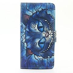 Θήκη για wiko lenny 3 lenny 2 κάλυψη περίπτωση μπλε γάτα μοτίβο pu δέρμα περιπτώσεις για το ηλιοβασίλεμα wiko 2