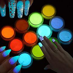 Art Deco/Retro Tytöt ja nuoret naiset Hohtaa pimeässä 3-D Salama DIY-tarvikkeet Powder Nail Salon Tool Hand Lepää
