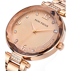 cheap Women's Watches-Women's Quartz Wrist Watch Casual Watch Stainless Steel Band Charm Luxury Creative Casual Unique Creative Watch Elegant Fashion Cool