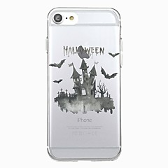 Pour iphone 7plus casquette transparent motif arrière couverture cas animal halloween bat doux tpu pour iphone 7 6splus 6plus 6s 6 5 5s se