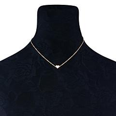 Damskie Serce Ręcznie Wykonane minimalistyczny styl Naszyjniki z wisiorkami Biżuteria Stop Naszyjniki z wisiorkami , Ślub Impreza