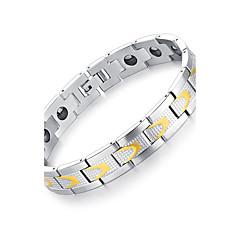 Муж. Браслет цельное кольцо Готика бижутерия Мода Rock Нержавеющая сталь Круглой формы Бижутерия Назначение Для вечеринок День рождения