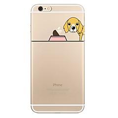 Недорогие Кейсы для iPhone 6 Plus-Кейс для Назначение Apple iPhone 7 Plus iPhone 7 Прозрачный С узором Кейс на заднюю панель Композиция с логотипом Apple С собакой