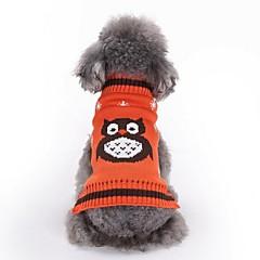 voordelige Hondenkleding & -accessoires-Hond Truien Hondenkleding Casual/Dagelijks dier Oranje Rood Groen Blauw Kostuum Voor huisdieren
