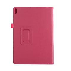 お買い得  タブレット用ケース-ケース 用途 Lenovo フルボディーケース / タブレットケース ソリッド ハード PUレザー のために Lenovo Tab 4 10