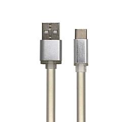 ieftine -Usb cablu de tip-c rapid încărcare cablu plat pentru huawei htc xiaomi 100cm aluminiu tpe