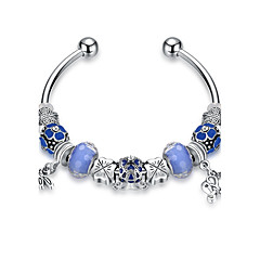 Lucky Doll Women's Strand Bracelet Fashion Crystal Silver Plated Alloy Circle Jewelry For Gift Daily Casual Office & Career Date