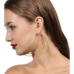 preiswerte Ohrringe-Damen - Metallisch, Personalisiert, Modisch Gold / Silber Für Party / Bühne / Strasse / überdimensional