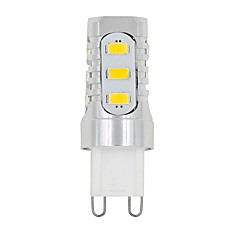 3W G9 LED Bi-pin Lights T 15 leds SMD 5730 Decorative Warm White White 480-700lm 3000/6000K AC220 AC100-240 AC 110 AC 110-220V
