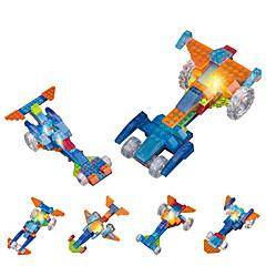 LED-verlichting Bouwblokken Educatief speelgoed Speelgoedauto's Racewagen Speeltjes Nieuwigheid Niet gespecificeerd Stuks