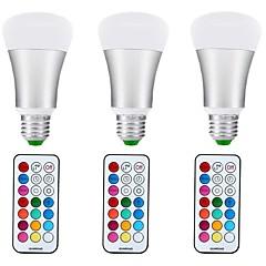 preiswerte LED-Birnen-3 Stück 10W 1000lm E27 LED Kugelbirnen A70 1 LED-Perlen COB Abblendbar Dekorativ RGB + Warm 85-265V