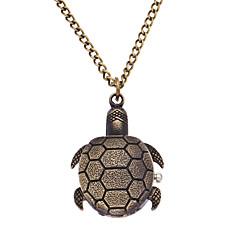 preiswerte Tolle Angebote auf Uhren-Herrn Damen Taschenuhr Quartz Bronze Analog Retro - Bronze