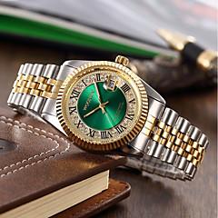 preiswerte Herrenuhren-Herrn Damen Quartz Pavé-Uhr Armbanduhr Armband-Uhr Japanisch Kalender Wasserdicht Mehrfarbig Edelstahl Band Charme Luxus Glanz Kreativ