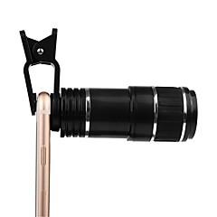 Kamera linse klips kit universel optisk zoomobjektiv 12x zoom manuel fokus fjernbar teleskop clip-on kamera teleobjektiv til smartphone