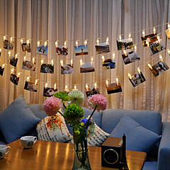 voordelige LED-verlichtingsstrips-Verlichtingsslingers 20 LEDs Warm wit RGB Wit Waterbestendig Kleurveranderend DC 4.5V DC4.5