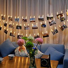 BRELONG 3M LED Photo Clip String Light Battery Powered Warm White White RGB