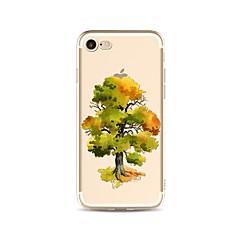 Кейс для Назначение Apple iPhone X iPhone 8 Plus Прозрачный С узором Задняя крышка дерево Мягкий TPU для iPhone X iPhone 8 Plus iPhone 8