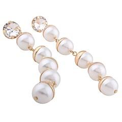 preiswerte Ohrringe-Damen Tropfen-Ohrringe Anhänger - Künstliche Perle Kugel Erklärung, Personalisiert, Anhänger Stil Gold / Weiß Für Weihnachten Weihnachts Geschenke Hochzeit