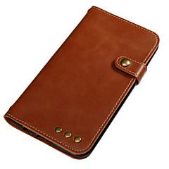 Недорогие Чехлы и кейсы для LG-Кейс для Назначение LG K8 LG LG K4 Бумажник для карт Кошелек Флип Магнитный Чехол Сплошной цвет Твердый Кожа PU для LG K10 (2017) LG K8