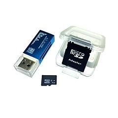 hesapli -Bir USB kart okuyucu ve sdhc sd adaptör ile 4gb microsdhc tf hafıza kartı