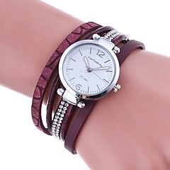 cheap Bracelet Watches-Women's Quartz Bracelet Watch Chinese Imitation Diamond PU Band Charm Casual Simulated Diamond Watch Unique Creative Watch Elegant Fashion