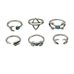 preiswerte Ringe-Damen Aleación - Grundlegend Silber Ring Für Normal