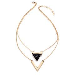 Γυναικεία Κολιέ Δήλωση Κοσμήματα Star Shape Geometric Shape Triangle Shape Κράμα Γεωμετρικό Εξατομικευόμενο Κλασσικά Πολυεπίπεδο Κοσμήματα