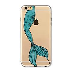 Недорогие Кейсы для iPhone 4s / 4-Кейс для Назначение Apple iPhone X iPhone 8 Plus Прозрачный С узором Кейс на заднюю панель Соблазнительная девушка Мультипликация Животное