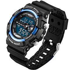 preiswerte Tolle Angebote auf Uhren-SANDA Herrn Armbanduhren für den Alltag / Sportuhr / Modeuhr Kalender / Wasserdicht / Kreativ Silikon Band Charme / Luxus / Freizeit Schwarz