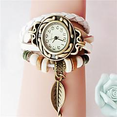 preiswerte Damenuhren-Damen Armband-Uhr Schlussverkauf PU Band Charme / Modisch Schwarz / Weiß / Blau