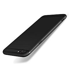 Недорогие Кейсы для iPhone-Кейс для Назначение iPhone 6s iPhone 6 Apple Защита от удара Матовое Кейс на заднюю панель Сплошной цвет Мягкий Силикон для iPhone 6s
