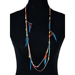 preiswerte Halsketten-Damen Quaste / Lang / Glasperlen Statement Ketten - Quaste, Böhmische, Grundlegend Gold Modische Halsketten Für Party, Abschluss, Alltag