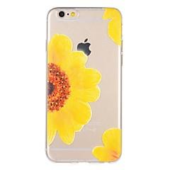 Недорогие Кейсы для iPhone 6 Plus-Кейс для Назначение Apple iPhone 7 Plus iPhone 7 С узором Кейс на заднюю панель Цветы Мягкий ТПУ для iPhone 7 Plus iPhone 7 iPhone 6s