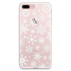 Назначение iPhone X iPhone 8 Чехлы панели Прозрачный С узором Задняя крышка Кейс для Рождество Мягкий Термопластик для Apple iPhone X