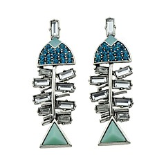 preiswerte Ohrringe-Damen Synthetischer Diamant Tropfen-Ohrringe - Strass Grundlegend, Bling Bling Silber Für Alltag Normal Verabredung
