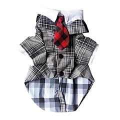 voordelige Hondenkleding & -accessoires-Hond kostuums Hondenkleding Cosplay Geruit Grijs Zwart Luipaard Kostuum Voor huisdieren