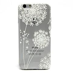 Назначение iPhone 7 iPhone 7 Plus Чехлы панели Ультратонкий Прозрачный С узором Задняя крышка Кейс для одуванчик Мягкий Термопластик для