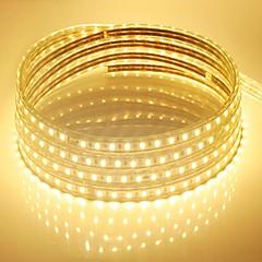 お買い得  LED ストリングライト-600 LED 温白色 ホワイト ブルー 防水 AC220 AC 220V