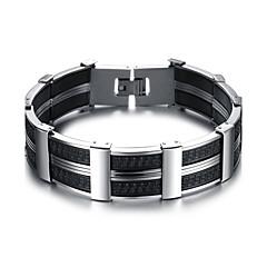 preiswerte Armbänder-Herrn Geometrisch Manschetten-Armbänder Armband - Titanstahl Simple Style, Modisch Armbänder Silber Für Alltag Büro & Karriere