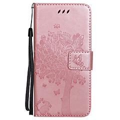 Назначение iPhone X Чехлы панели Кошелек Бумажник для карт со стендом Флип Рельефный Чехол Кейс для Бабочка дерево Твердый Искусственная