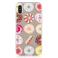 Назначение iPhone X iPhone 8 Чехлы панели Прозрачный С узором Задняя крышка Кейс для Продукты питания Мягкий Термопластик для Apple