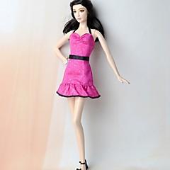 abordables Ropa para Barbies-Vestidos Vestir por Muñeca Barbie  Mezcla de Seda y Algodón Vestido por Chica de muñeca de juguete