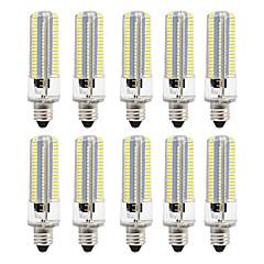 preiswerte LED-Birnen-BRELONG® 10 Stück 8 W 700 lm E12 / E12 / E14 / E17 LED Mais-Birnen 152 LED-Perlen SMD 3014 Abblendbar Warmes Weiß / Weiß 220 V / 110 V