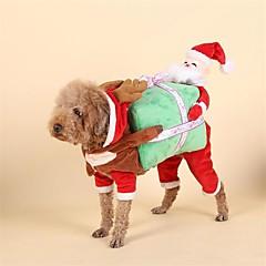 お買い得  犬用ウェア&アクセサリー-犬 コスチューム 犬用ウェア トナカイ レッド コットン コスチューム ペット用 クリスマス
