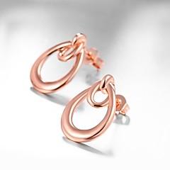 preiswerte Ohrringe-Damen Geometrisch Ohrstecker - Rose Gold überzogen Tropfen, Blume Modisch, nette Art Rotgold Für Alltag / Arbeit