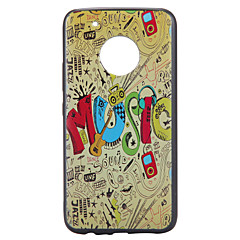 Case For Motorola Moto G5 Plus Case Cover Musical Instruments Pattern Relief Back Cover Soft TPU