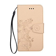 Назначение iPhone X iPhone 8 iPhone 8 Plus Чехлы панели Кошелек Бумажник для карт Флип Рельефный С узором Чехол Кейс для Цветы Твердый
