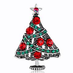 お買い得  ブローチ-女性用 その他 ラインストーン ブローチ  -  ファッション / クリスマス 混色 ブローチ 用途 クリスマス / 贈り物
