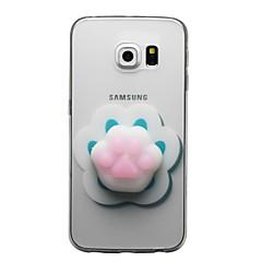 voordelige Galaxy S4 Mini Hoesjes / covers-hoesje Voor Samsung Galaxy S8 Plus S8 Transparant Patroon squishy DHZ Achterkant Kat 3D Cartoon Zacht TPU voor S8 Plus S8 S7 edge S7 S6